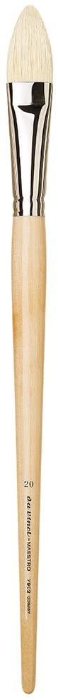 da Vinci 7902-20 Maestro Artist Paint Brush, Pointed Filbert, Hand Interlocked with Natural Polished Handle, Size 20