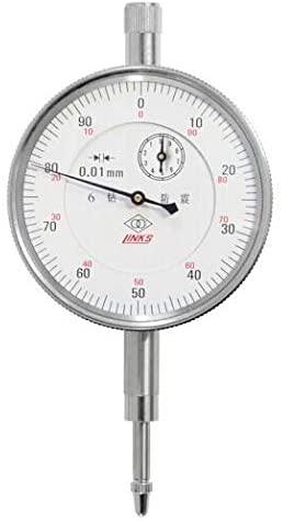 MeterTo Dial Indicator, Stainless Steel, Range: 0-10mm, Resolution: 0.01mm