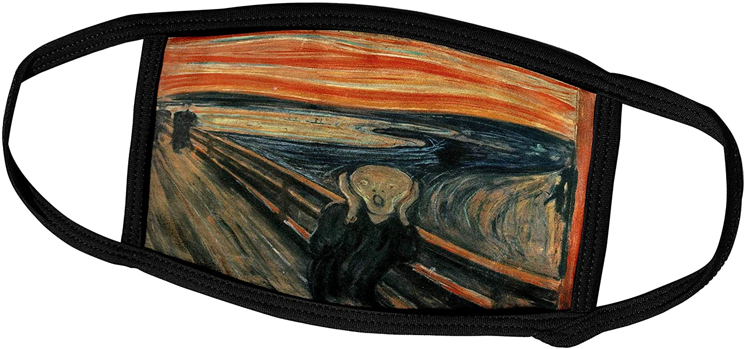 3dRose Florene Famous Art - The Scream Painting by Edvard Munch - Face Masks (fm_60716_1)
