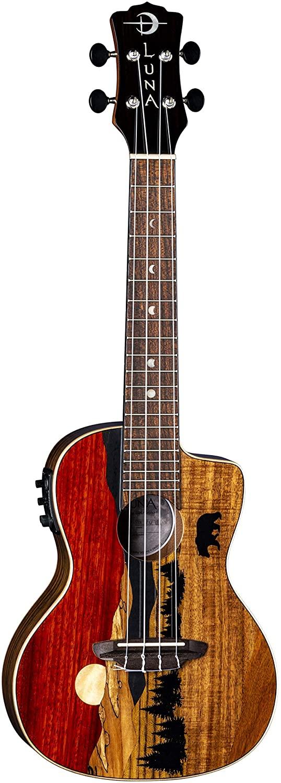 Luna Guitars Vista Bear, 4-String Concert Acoustic/Electric Ukulele (UKEVISTABEARC)