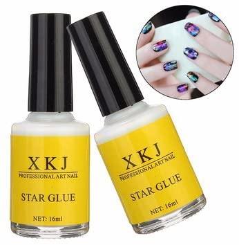 Gum - Nail Glue - White Glue Nail Art Transfer Tips Adhesive Galaxy Star Foil Sticker 16ml Transport Sticker Glue White Person Gum - 1PCs