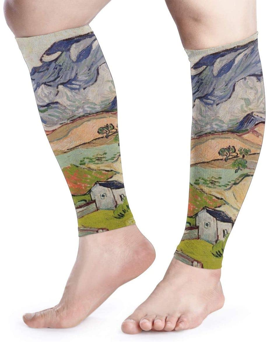 KZANSUI The Alpilles, 1890 Unisex Calf Compression Sleeves - Leg Compression Socks Great for Sports, Running, Walking