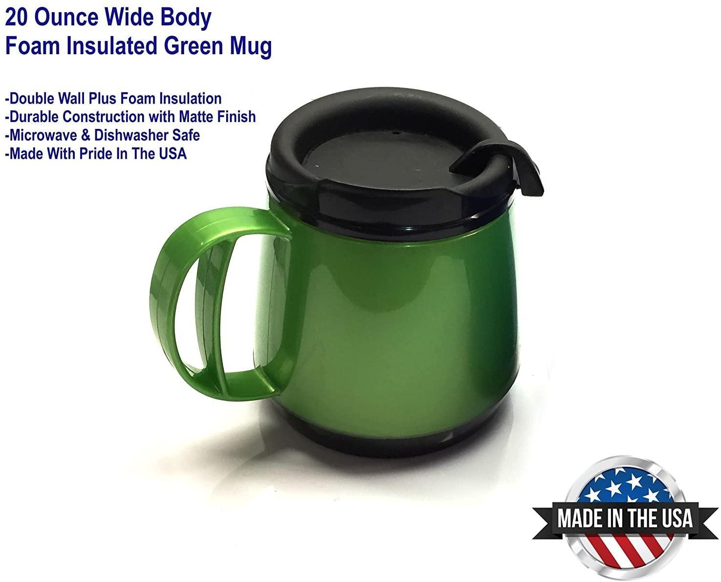 20oz. Foam Insulated Wide Body ThermoServ Mug- Green