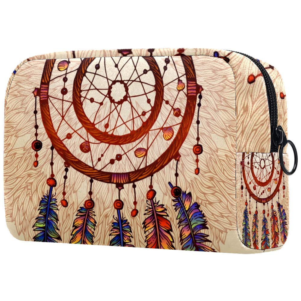 Ethnic Tribal Dreamcatcher Makeup Bags Portable Tote Cosmetics Bag Travel Cosmetic Organizer Toiletry Bag Make-up Cases for Women