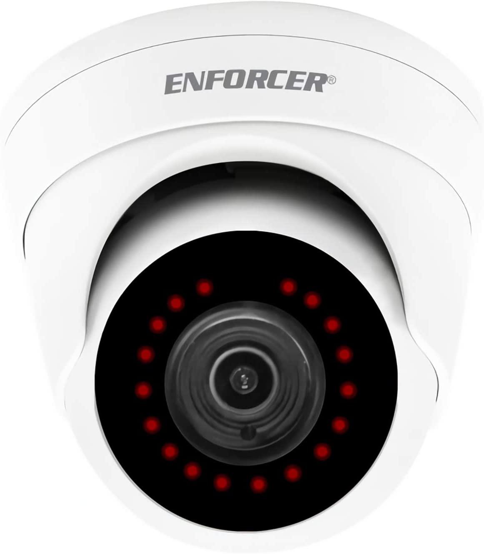 Seco-Larm EV-Y2251-A2WQ Enforcer Analog Fixed Turret Camera; 4-in-1 HD TVI, CVBS, CVI and AHD; 2MP Resolution; Joystick OSD Control; 2DNR & 3DNR Digital Noise Reduction; Digital Wide Dynamic Range