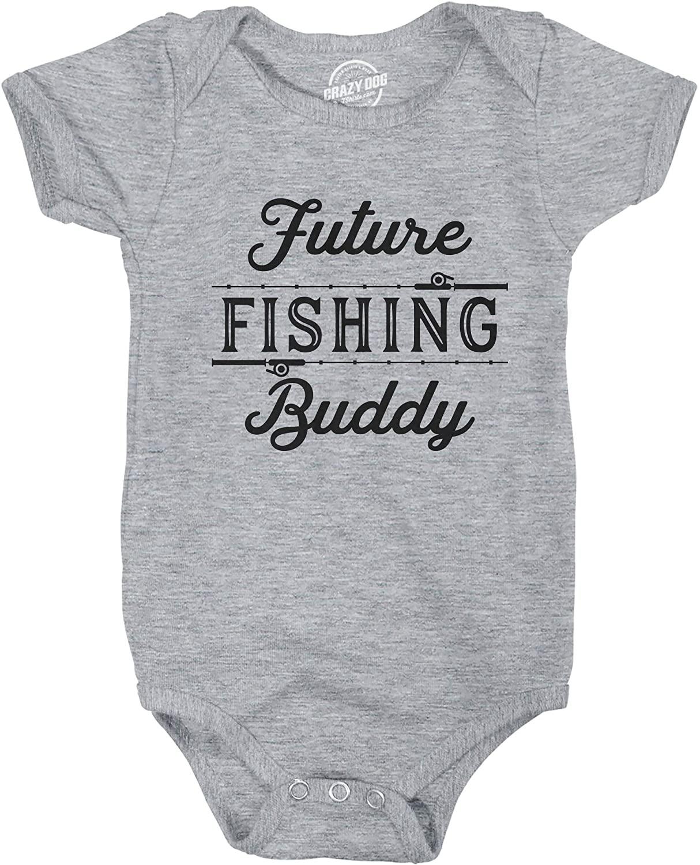 Creeper Future Fishing Buddy Baby Bodysuit Funny Outdoor Sport Shirt