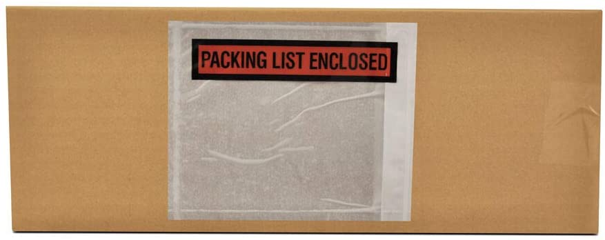 7.5 x 5.5 Packing List Enclosed Printed Adhesive Top Load Panel Face Envelopes 2000 Pcs