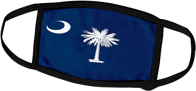 3dRose InspirationzStore Flags - Flag of South Carolina SC - US American United State of America USA White Palmetto Tree Indigo Blue - Face Masks (fm_158433_1)