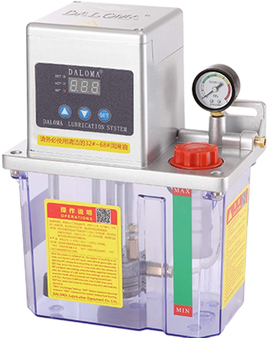 NEWTRY 110V/220V Electric Lubrication Pump Machining Center Lubrication Pump CNC Lathe Lubrication Pump for Centralized Lubrication (110V single digital display)
