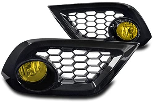 ZMAUTOPARTS Bumper Driving Fog Lights Lamps Yellow For 2016 Scion iM / 2017 Toyota Corolla iM