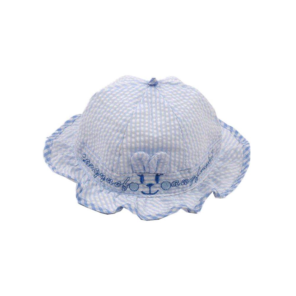 Baby Sun Protection Hat Infant Floppy Cap Cotton Sun Hat 0-3-6 Months Unisex