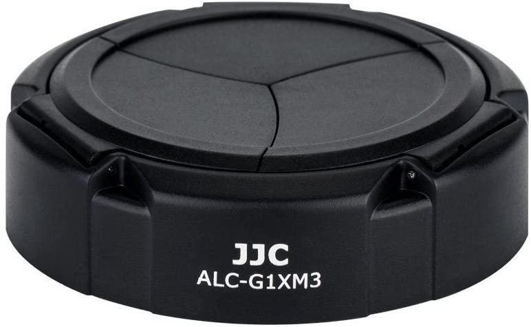 JJC ALC-G1XM3 Black Auto SELF-RETAINING Lens Cap for Canon PowerShot G1X Mark III (G1X M3)