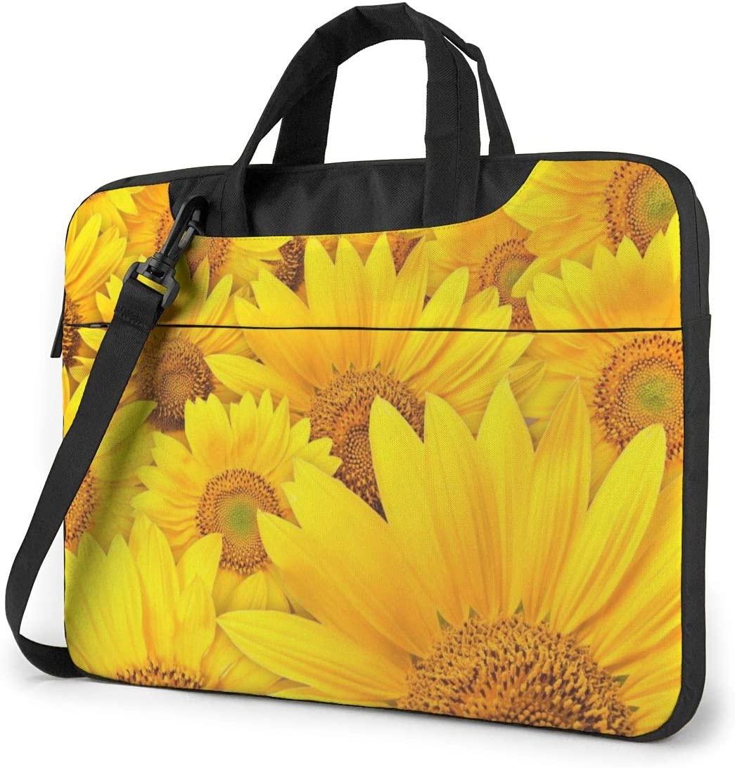 Many Sunflowers Printed Laptop Bag,Handbag Business Shoulder Messenger Bag Briefcase
