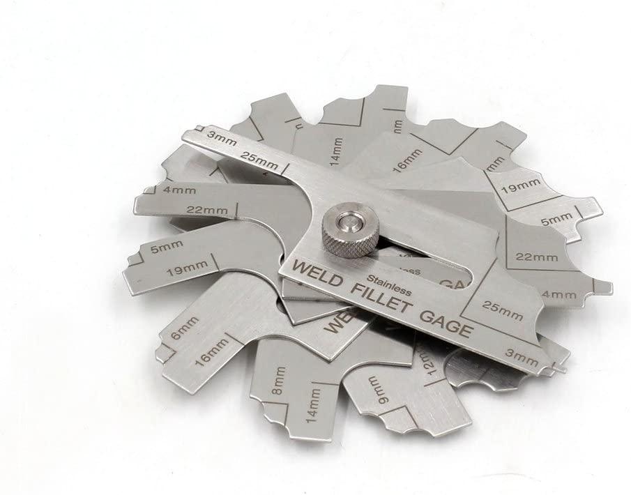 7pieces Welding Fillet Gage metricset MG-11 ruler test ulnar inspection Gauge