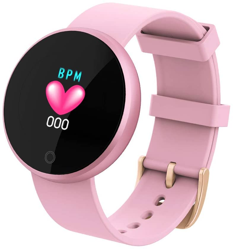 JJJ Sports Watch Smart Watches Women Smart Watch Top Heart Rate Female Period Reminder Suitable for Running Fitness,Pink