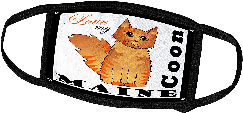 3dRose Janna Salak Designs Cats - Love My Maine Coon Cat - Red Tabby - Face Masks (fm_35513_1)