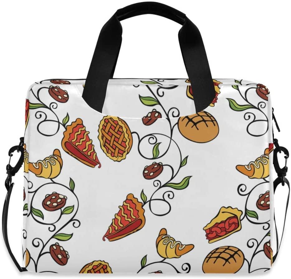 Laptop Bag, Baking Seamless Vector Pattern Laptop Briefcase Bag, 16 Inch Slim Laptop Backpack Laptop Case