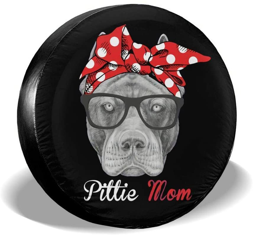Funny Pittie Spare Tire Cover Waterproof and Dustproof Tire Protection 14-17 (in)