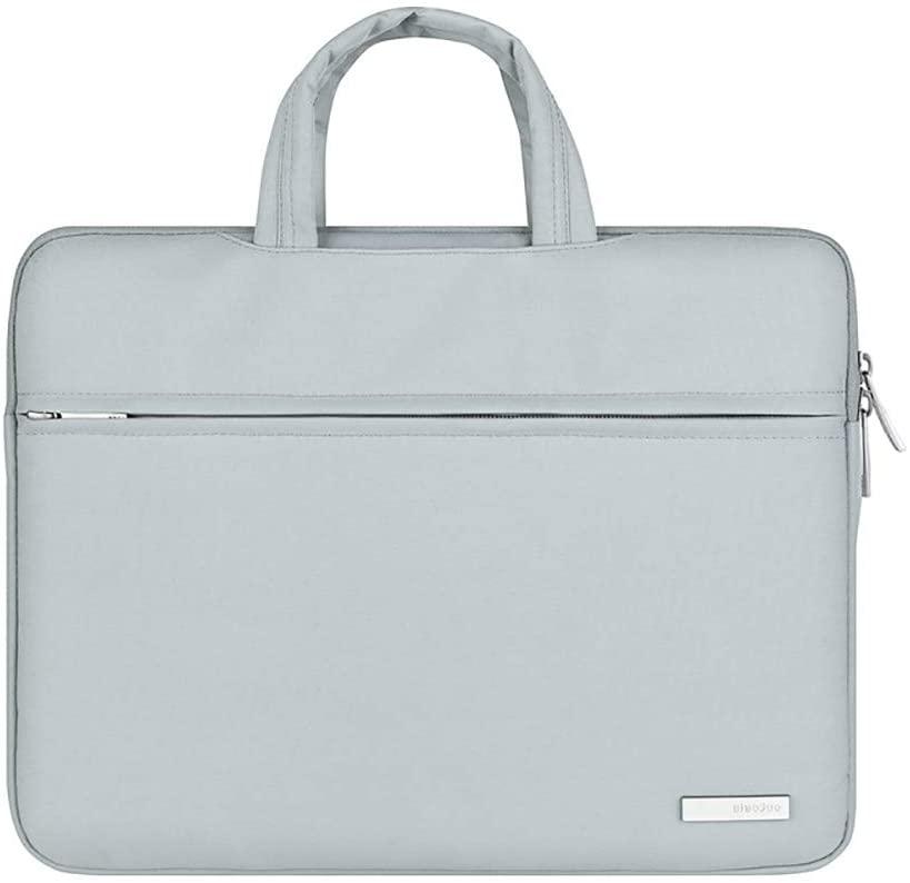Men's briefcase Notebook business bag multi-function structure notebook bag computer bag handbag men and women liner bag industrial package laptop bag laptop bag ( Color : Light gray , Size : 15.6