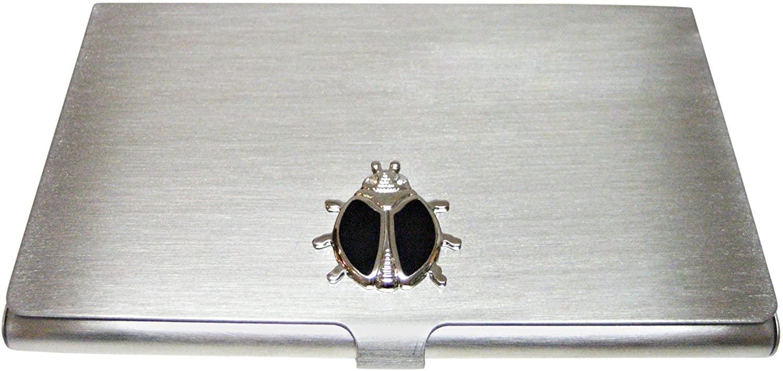 Black Bug Matte Business Card Holder