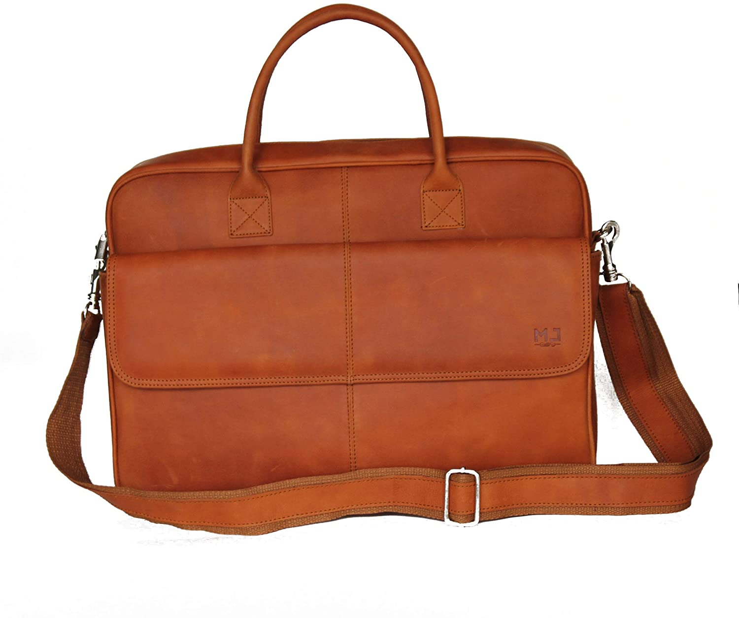 leather genuine briefcase Bag for men - Laptop computer bag