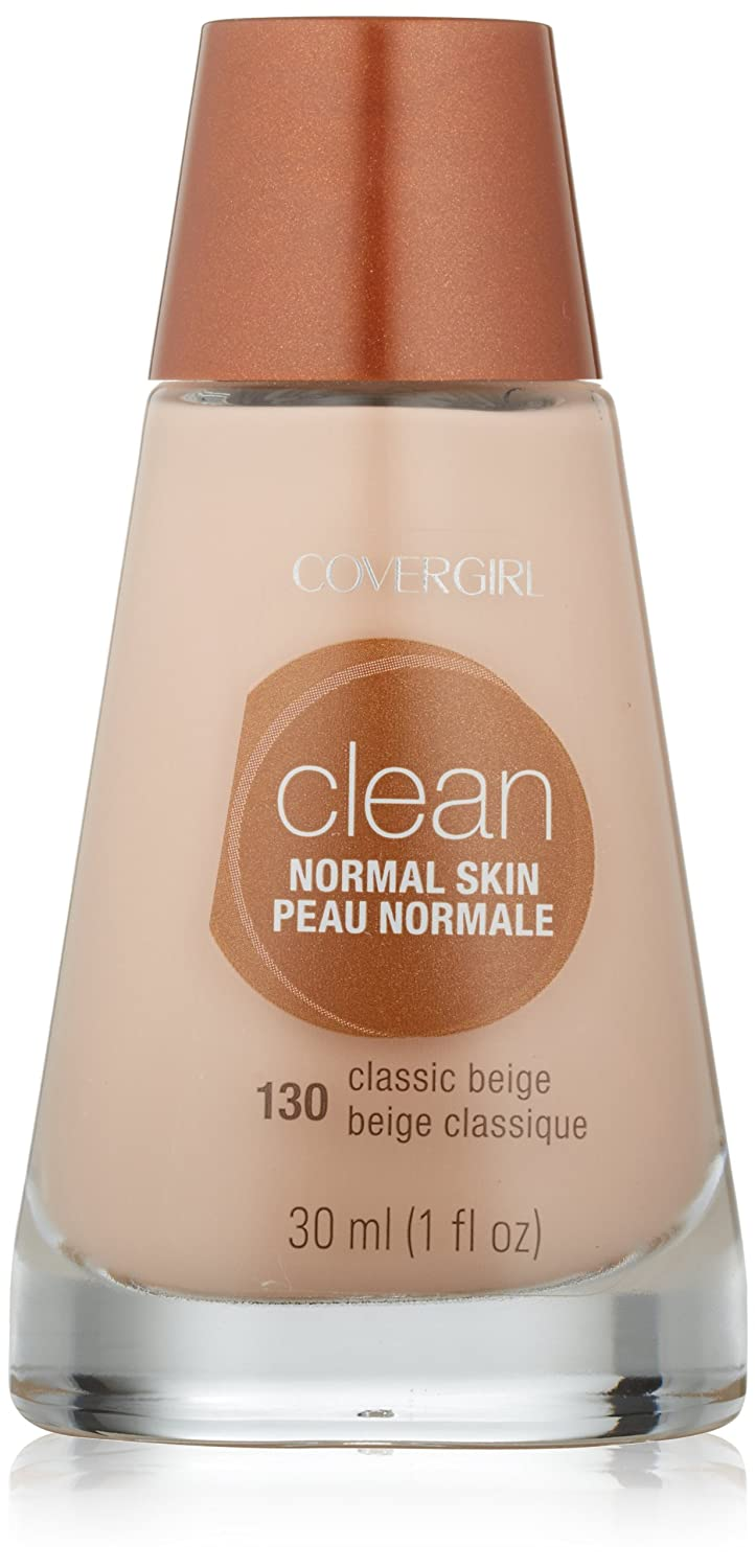 CoverGirl Clean Liquid Makeup, Classic Beige (N) 130, 1.0-Ounce Bottles (Pack of 2)