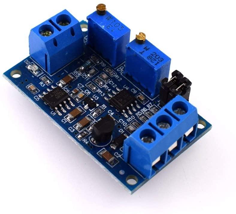 HW685 Current to Voltage Module 0/4-20mA to 0-3.3V/5V/10V Voltage Transmitter(Color:Blue)