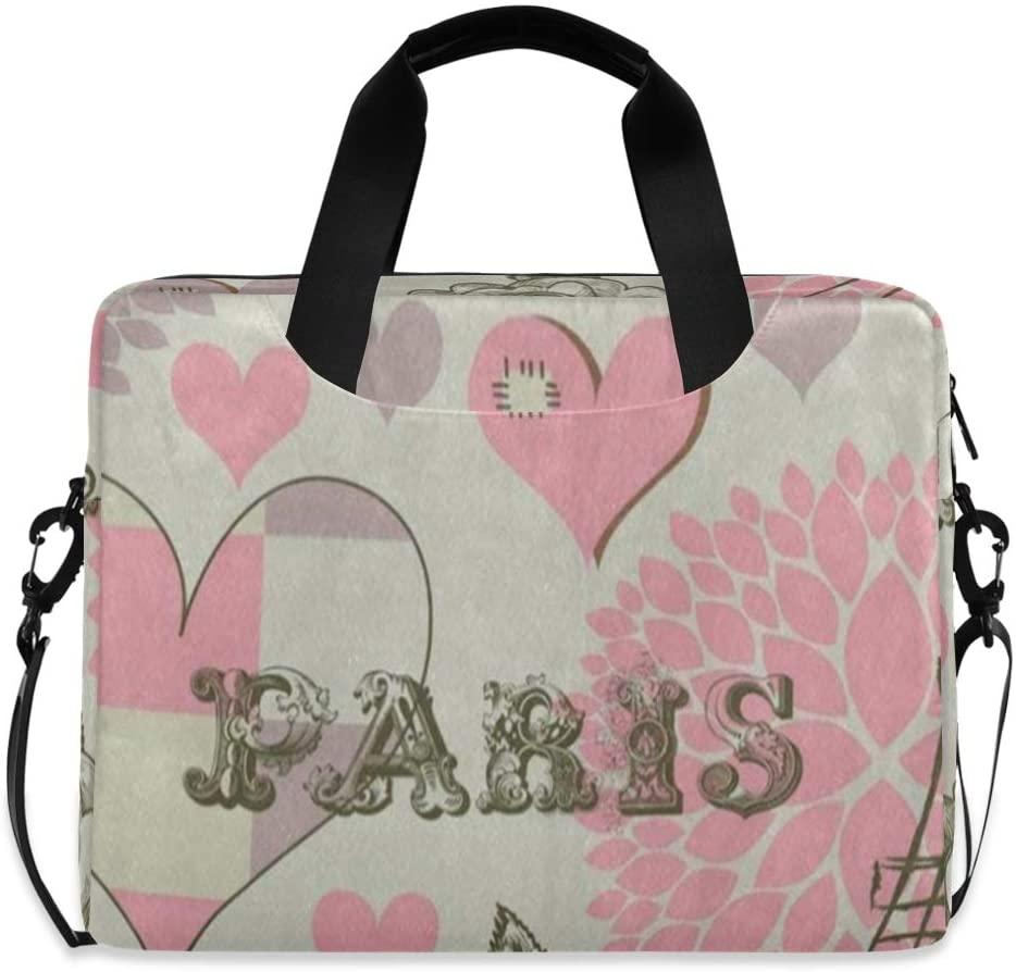Laptop Bag, Paris Eiffel Tower Bird Flower Laptop Briefcase Bag, 16 Inch Slim Laptop Backpack Laptop Case