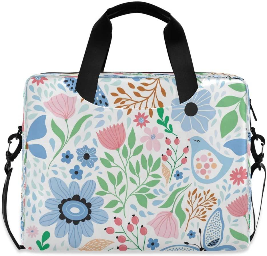 Trendy Floral Butterfly Special Laptop Bag Protective Case Computer Messenger Briefcase Women Men 16 15.6 14