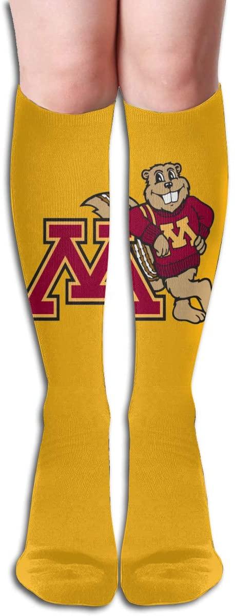 Umn Mens/Womens Comfortable Casual Funny Long Knee High Socks Compression Socks Winter Warm Soccer Socks