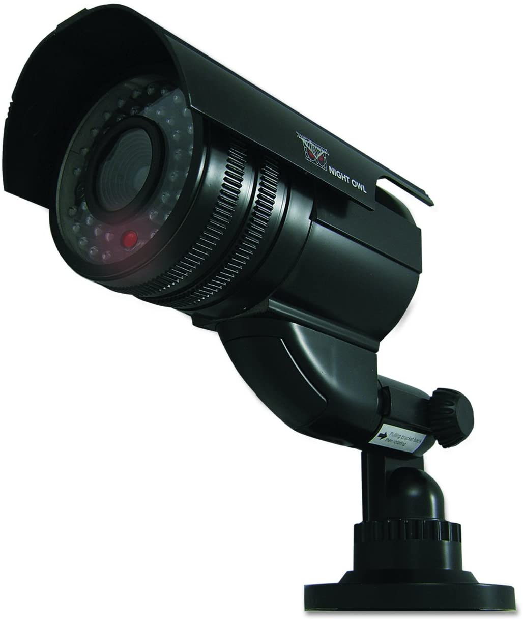 Night Owl Security DUM-Bullet-B Decoy Bullet Camera with Flashing LED Light,Black