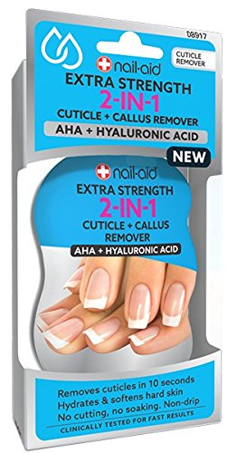 NAIL-AID 2-in-1 Cuticle Remover + Hydrator, Clear, 2.25 Fluid Ounce