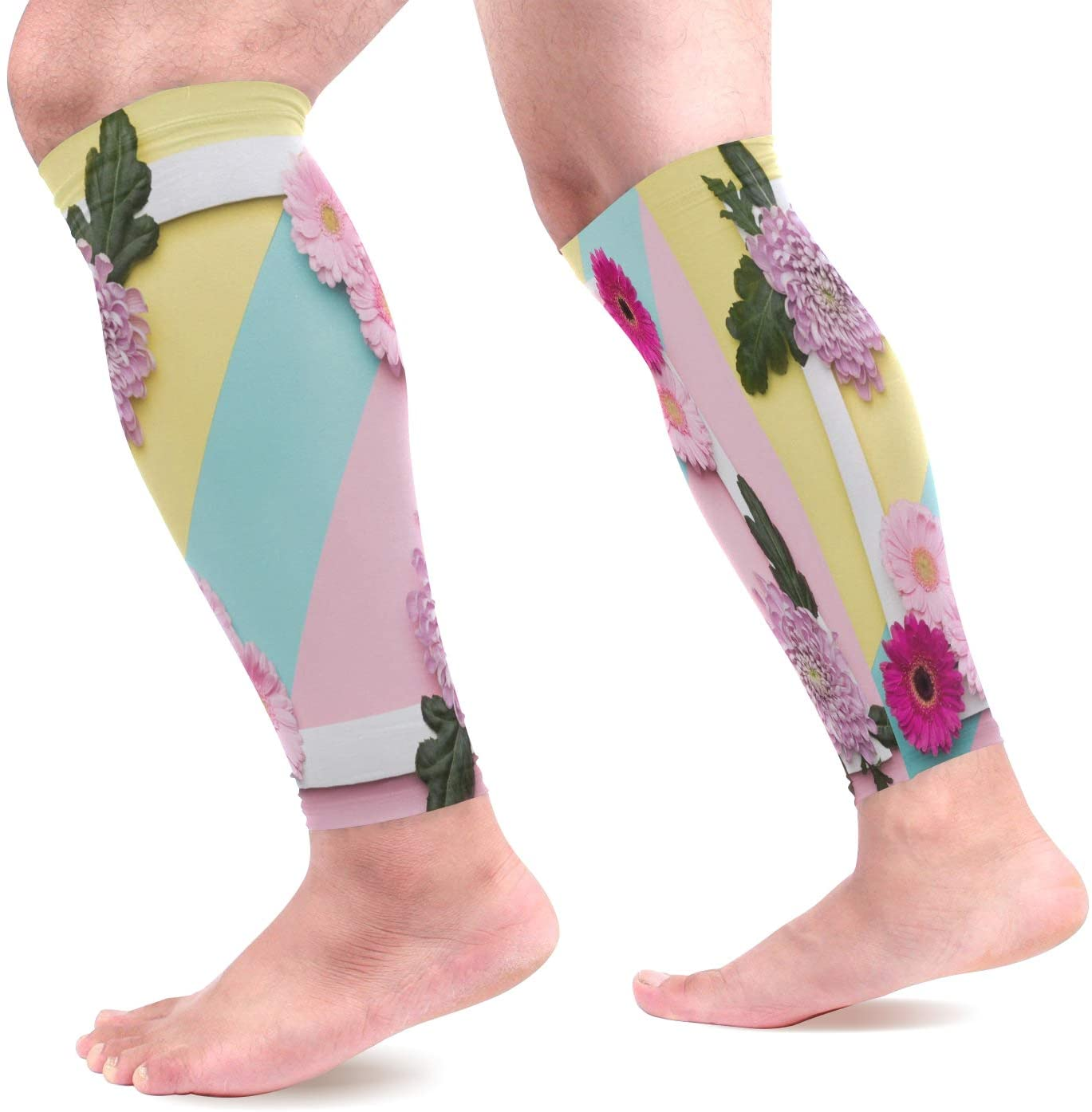 Calf Compression Sleeves Valentine's Day Or Birthday Pastel Candy Colours Leg Compression Socks for Runners Shin Splint Varicose Vein & Calf Pain Relief - Calf Guard for Running Cycling Nurses Women