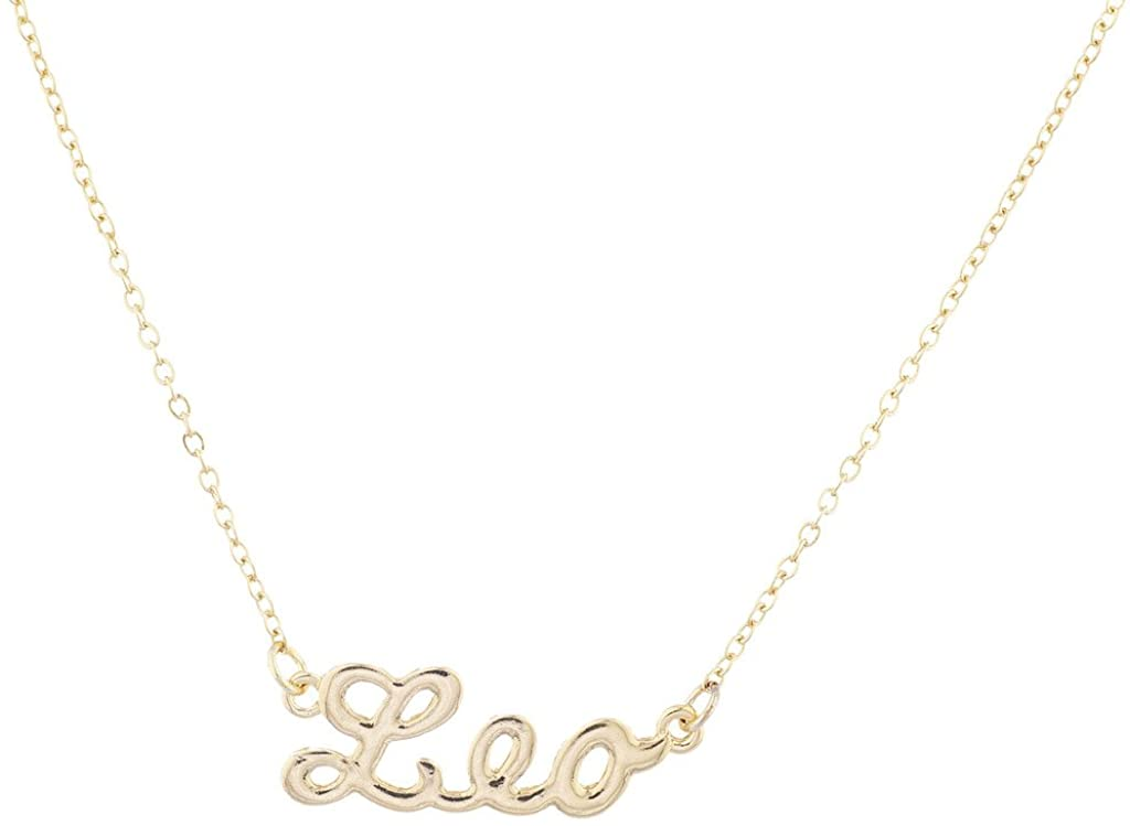 Lux Accessories Horoscope Zodiac Sign Leo Gold Necklace