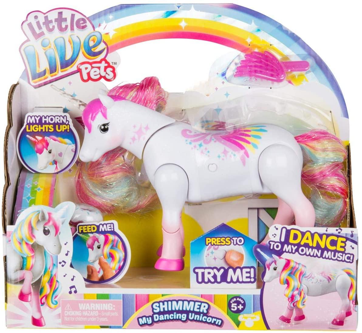 Little Live Pets Shimmer My Dancing Unicorn Rainbow Colors