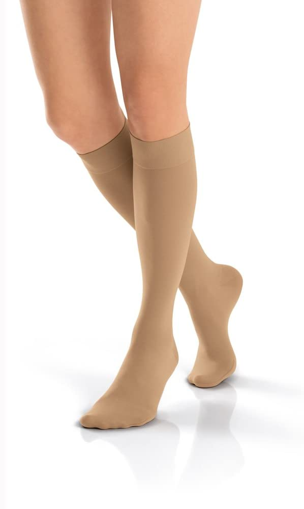 BSN Medical/Jobst 115752 Opaque Compression Hose, Knee High, 15-20 mmHg, Closed Toe, Small, Midnight Navy