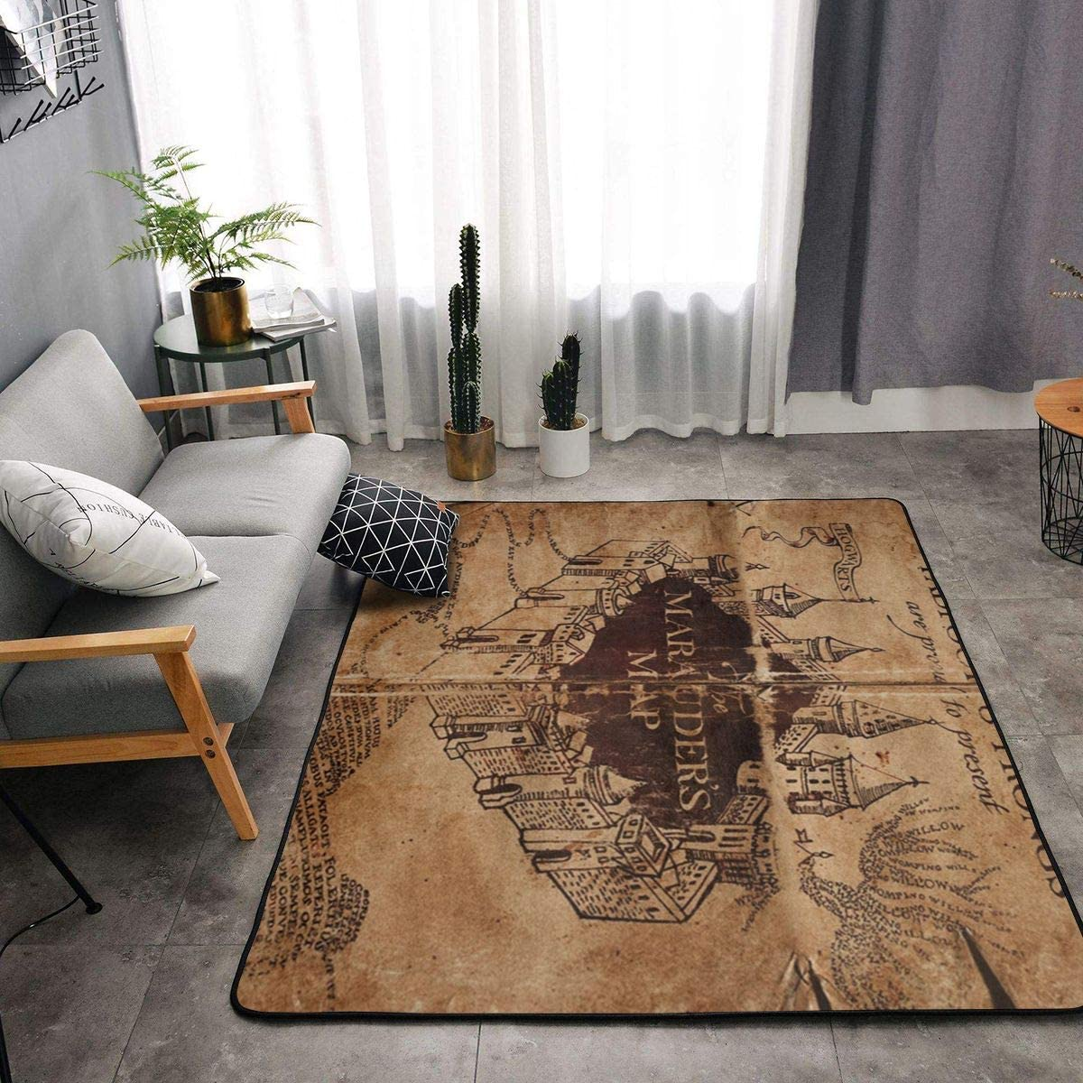NiYoung I Like Exercise Marauders Map Kitchen Rugs Memory Foam Doormat Floor Mat with Non-Slip Rubber Backing, Quick Dry Tub Shower Bath Rug Standing Mat Home Art Ultra-Soft Standing Mat