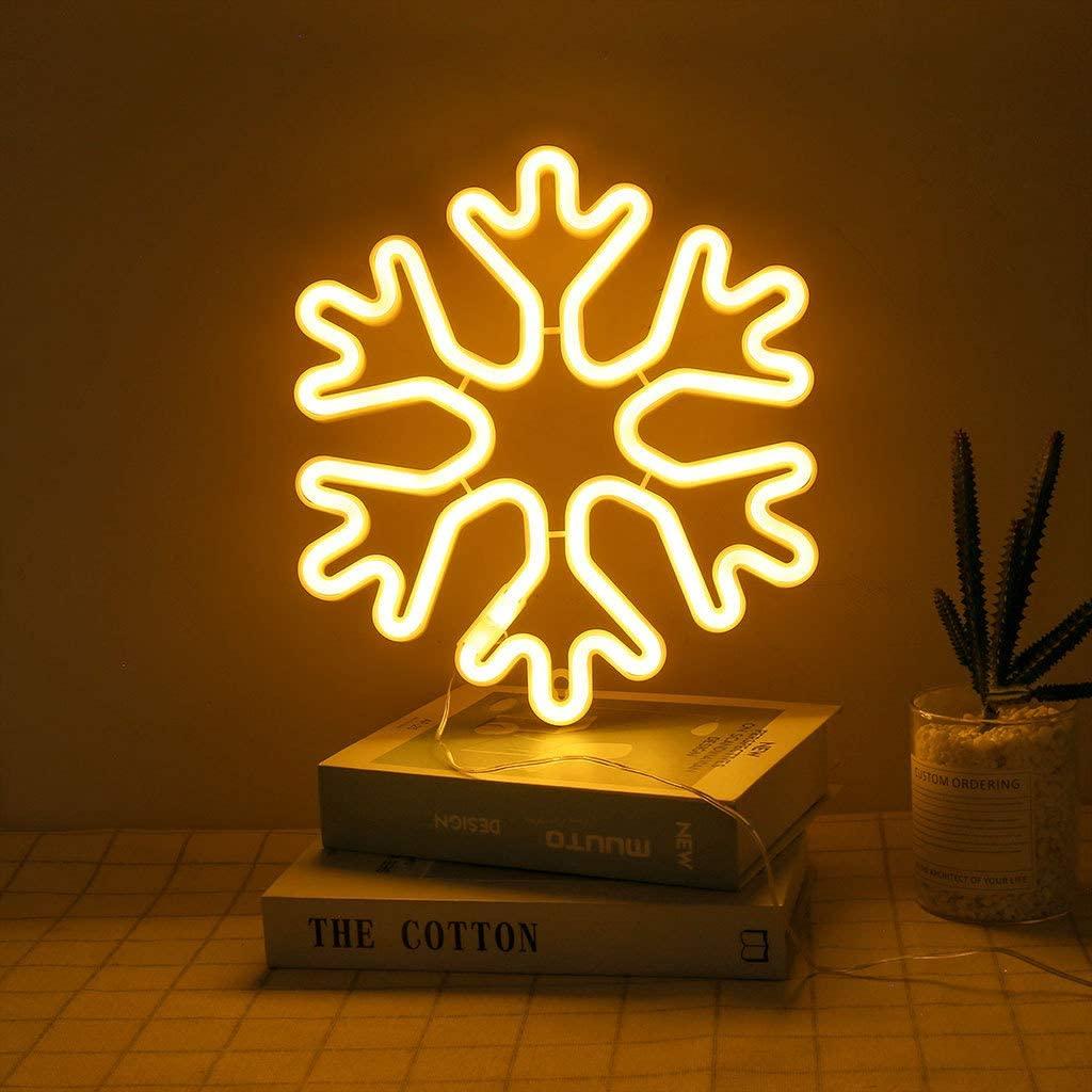 AKDSteel Snowflake LED Light Fashion Desk Lamp Night Illumination USB Charging Mall Home Holiday Decoration Friend Present