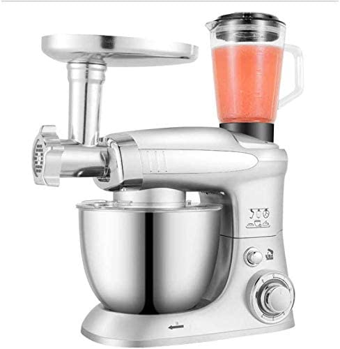 KUYT Stand Mixer 1000w Kitchen Electric 6 Speed Food Mixer, 4l Stainless Steel Mixing Bowl, with Dough Hook Beater, with Ground Meat and Squeeze Fruit Juice Function