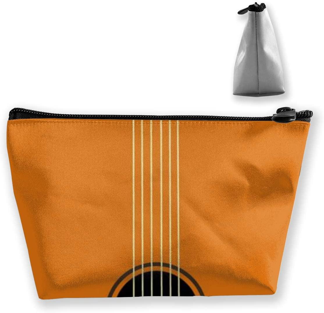 Trapezoidal Storage Bag Guitar Double Print Handbag Coin Purse Cosmetic Pouch Wallet Pencil Holder
