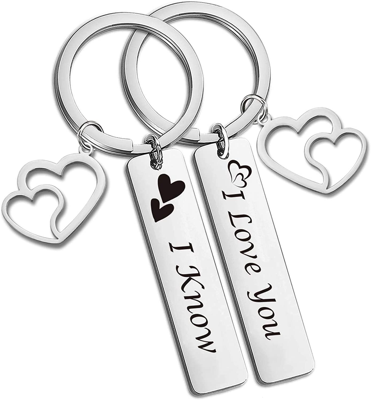 SIDIMELO Couple Gifts for Him and Her Wedding Gifts Star Wars Jewelry I Love You I Know Keychain Girlfriend Boyfriend Husband Wife Couple Keychain