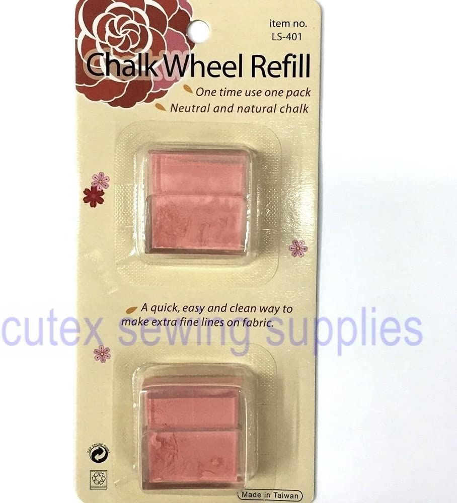 Chalk Wheel Powder Refills - Blue, Red, White, Yellow - Pick Color - 2 Pack