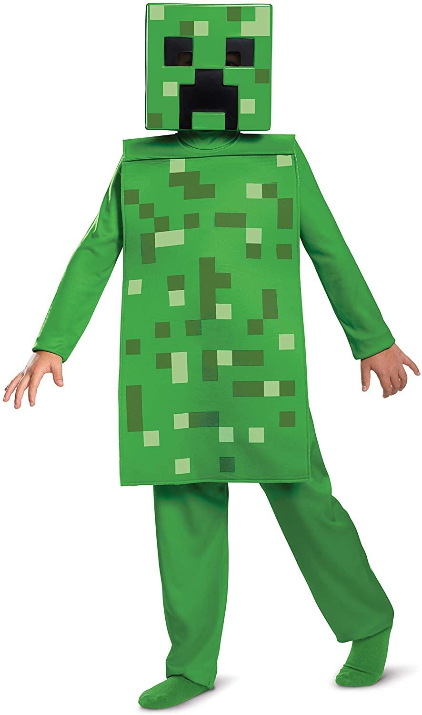 Disguise Minecraft Creeper Boys Jumpsuit Costume
