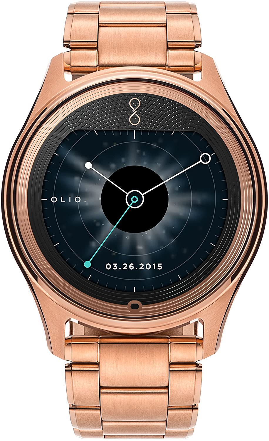 Olio Smartwatch - Retail Packaging - Rose Gold Collection Metal Link Bracelet
