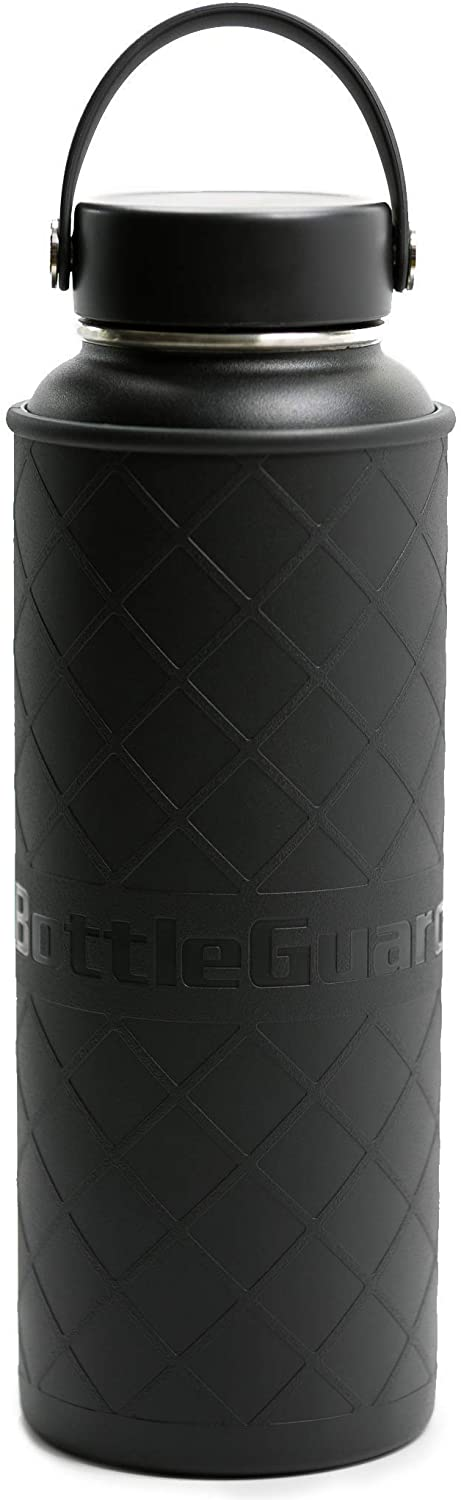 BottleGuard TPU Rugged Bottle Sleeve Skin Protector for 40oz Hydro Flask, ThermoFlask Stainless Steel Bottles