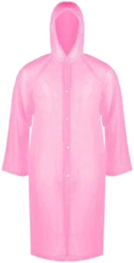 24station 2 Pcs Disposable Thick PVC Raincoats Adult Rain Ponchos Rain Gear #01