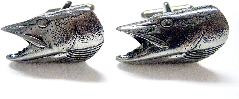 Pike Fish Head Cufflinks