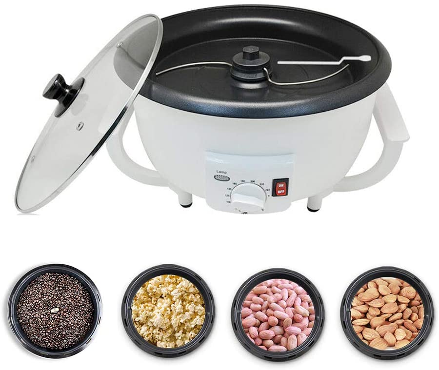 ElectricCoffee Bean Roaster Machine for Home Office Use Nuts Coffe Beans Bake Baking Roasted Roasting 110V