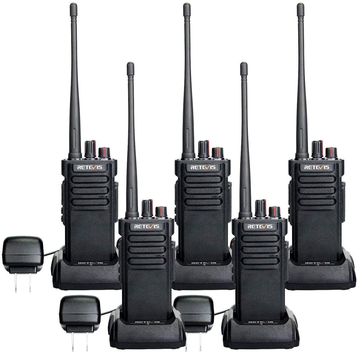 Retevis RT29 Two-Way Radios Long Range Rechargeable 3200mAh Waterproof UHF Heavy Duty High Power Walkie Talkies Long Distance(5 Pack)