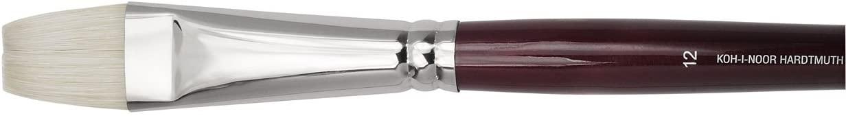 KOH-I-NOOR 9936 Bright Brush, Bristle, Silver, Size 12